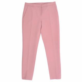 No. 21 Pink Slim -Leg Wool Trousers