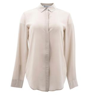T by Alexander Wang Nude Sheer Shirt