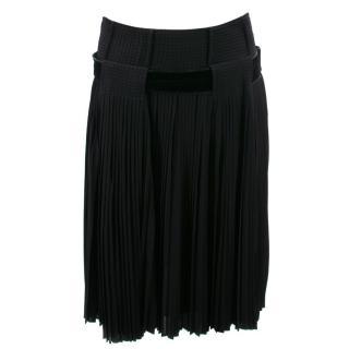 Roberto Cavalli Black Pleated Skirt