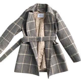MaxMara plaid wool coat