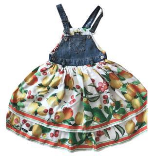 Dolce&Gabbana Junior Silk Dungaree Dress