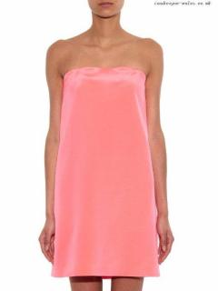 Raey Bandeau silk mini dress