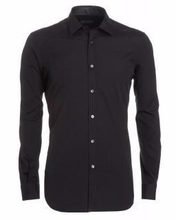 Belstaff Dunmore Black Shirt in Stretch Poplin