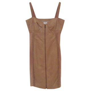 Alice by Temperley Leather and mesh dress