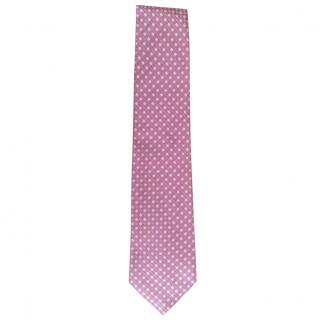 Canali Pink Silk Tie