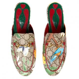 Gucci Princetown Floral Slippers