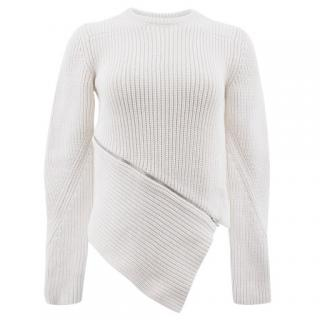 Alexander Wang Off White Zipper Jumper