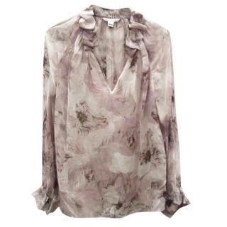 DVF Silk printed blouse