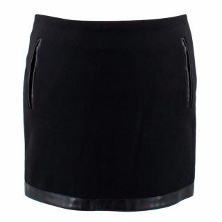 Maje Black Wool Mini Skirt