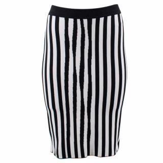 A.L.C Striped Stretch- Knit Pencil Skirt