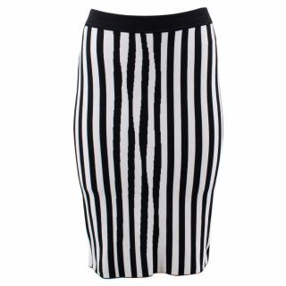 A.L.C Striped Stretch- Knit Pencil Skirt