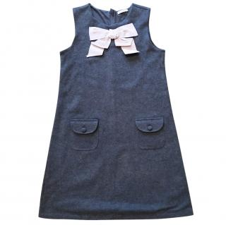Dolce Gabbana girls grey dress with bow detail
