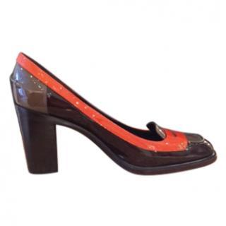 Celine Tri- Colour Patent Shoes