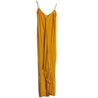 Diane Von Furstenberg Yellow Draped Gown