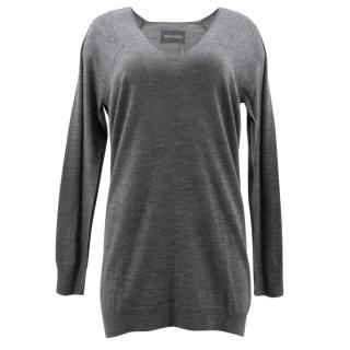 Zadig & Voltaire Grey V Neck Jumper