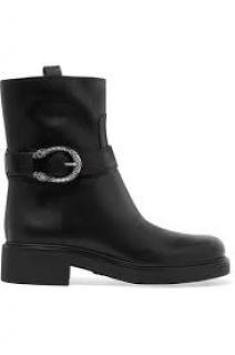 GUCCI Dionysus leather boots black