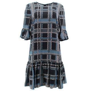 Markus Lupfer Square Pattern Dress