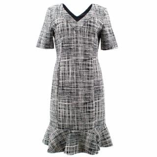 Moschino Boutique Black and White Checked Dress