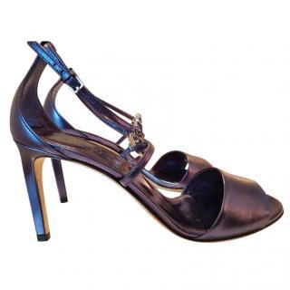 Gucci violet d'orsay swarovski crystal heels shoes  6