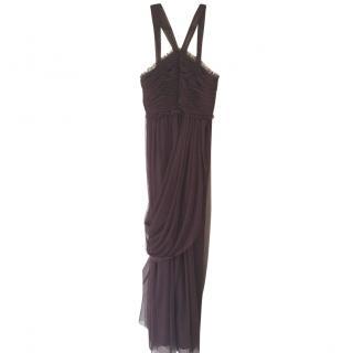 Vera Wang Maids plum long dress