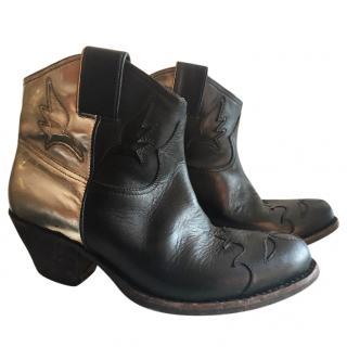 Golden Goose Black Sydney Ankle Boots