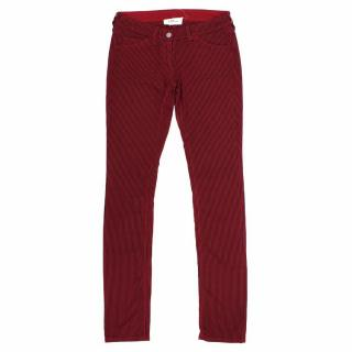 Isabel Marant Etoile Red and Black Striped Cotton Jeans