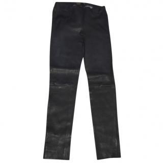 Louis Vuitton Leather Biker Trousers
