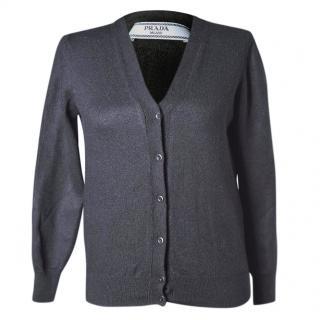 Prada black wool cardigan