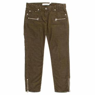Isabel Marant Etoile Green Cotton Jeans