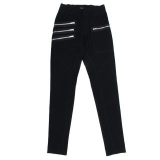 Joseph Black Trousers with Silver Zips