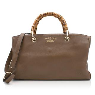Gucci Brown Bamboo Tote