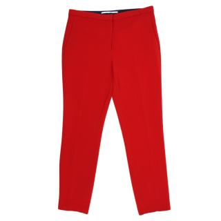 Rosetta Getty Red Pleats Trousers