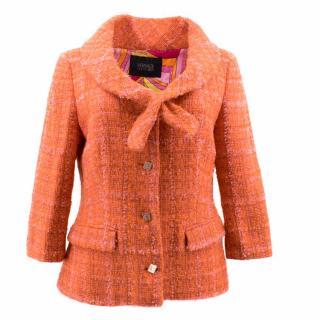 Versace Orange Wool Jacket