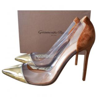 Gianvito Rossi plexy pumps 40 AVAILABLE .NEW NEVER WORN