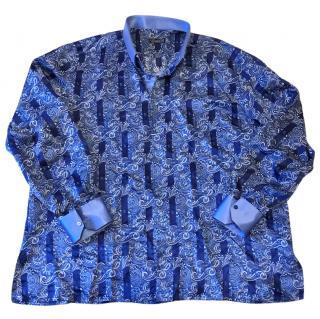 Stefano Ricci 100% Silk Patterned Shirt RRP �1150
