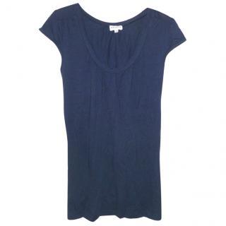 BRORA Navy Cotton Top