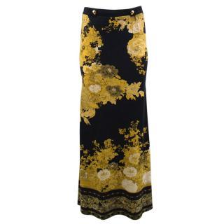 Roberto Cavalli Long Patterned Skirt