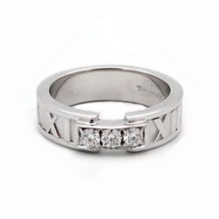 Tiffany & Co Atlas White Gold  Diamond ring