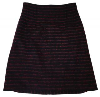 Jil Sander Navy Wool-Blend Skirt