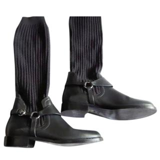 Gucci Grey Sock Boots  38