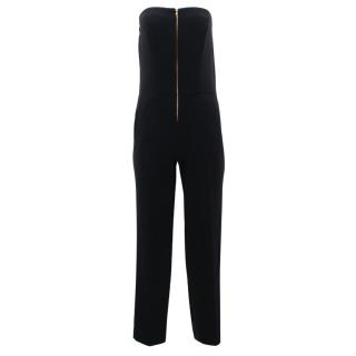 Sandro Black Strapless Jumpsuit