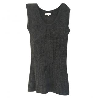 CELINE grey cashmere jumper knitwear size Small