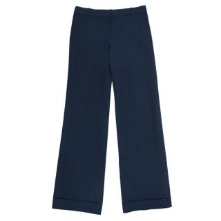 Chloe Navy Straight Trousers