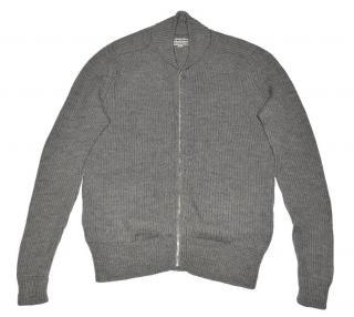 Acne Men's Gray Merino wool Full Zip Sweater