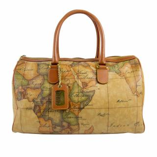 Alviero Martini 1A Classe Hand painted map handbag shopper tote speedy