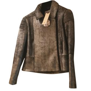 Zoe Jordan Metallic Leather Jacket
