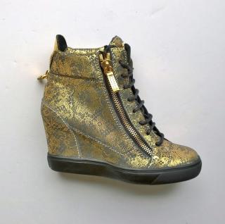 Guiseppe Zanotti gold trainers