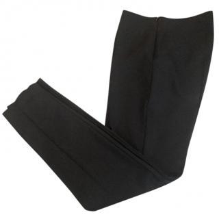 Akris straight leg black trousers size 10