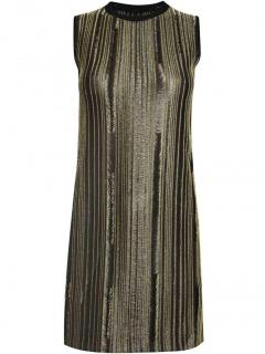 Maison Margiela Distressed Gold Chain Dress