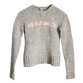 Polo Ralph Lauren Kids Grey Jumper Wool